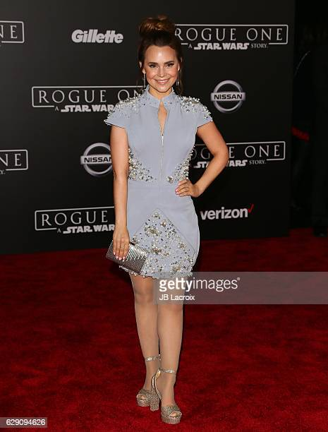 Rosanna Pansino attends the Premiere of Walt Disney Pictures and Lucasfilm's 'Rogue One A Star Wars Story' on December 10 2016 in Hollywood California