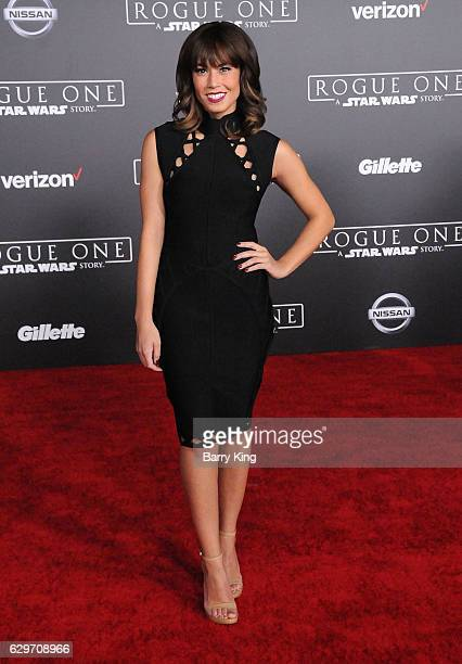 Rosanna Pansino attends the premiere of Walt Disney Pictures and Lucasfilms' 'Rogue One A Star Wars Story' at the Pantages Theatre on December 10...
