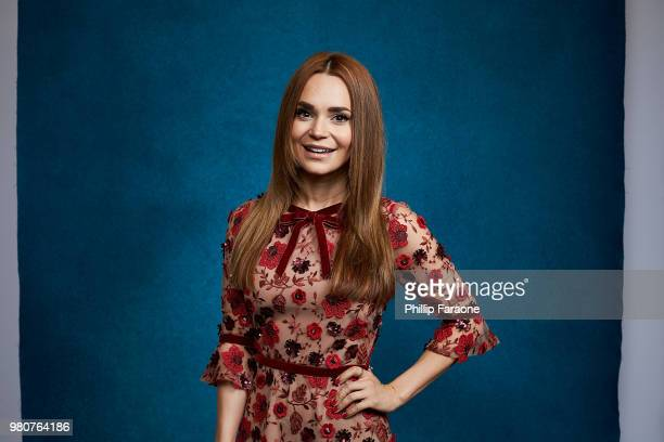 Rosanna Pansino poses for a portrait at the Getty Images Portrait Studio at the 9th Annual VidCon US at Anaheim Convention Center on June 21 2018 in...