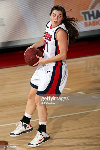 Rosanna Reynolds of the Detroit Titans looks to play the ball against the South Alabama Jaguars at The Matadome on November 24 2012 in Northridge...