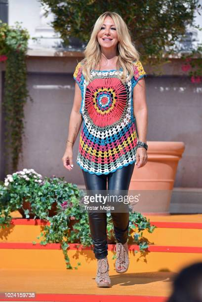 Rosanna Rocci during the tv show 'Immer wieder sonntags' at EuropaPark on August 26 2018 in Rust Germany