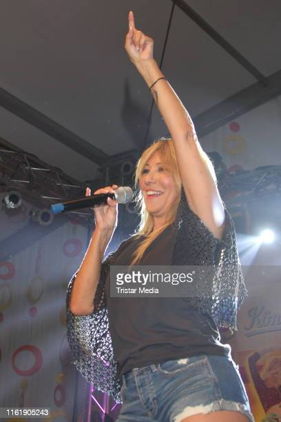 Rosanna Rocci performs during the Schlagermove in HamburgHeiligengeistfeld on July 13 2019 in Hamburg Germany