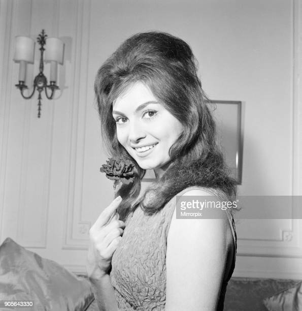 Rosanna Schiaffino Italian actress in the UK for a two week stay to learn English pictured at The Savoy Hotel London Wednesday 12th October 1960