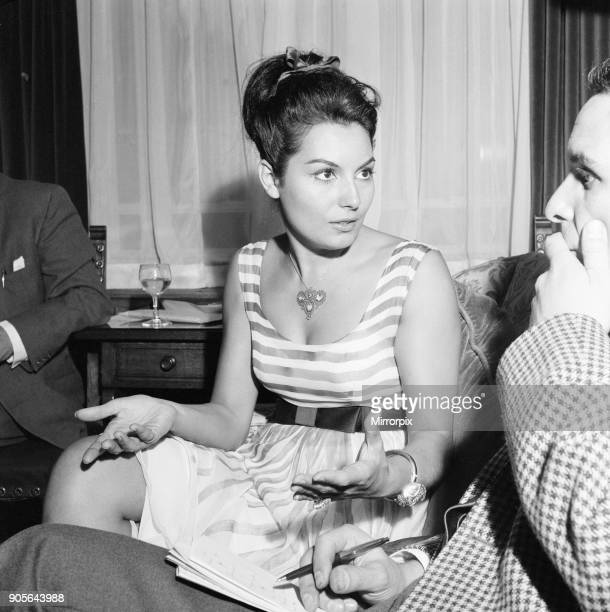 Rosanna Schiaffino Italian actress in the UK to star in new film The Victors pictured at The Dorchester Hotel London Tuesday 14th August 1962