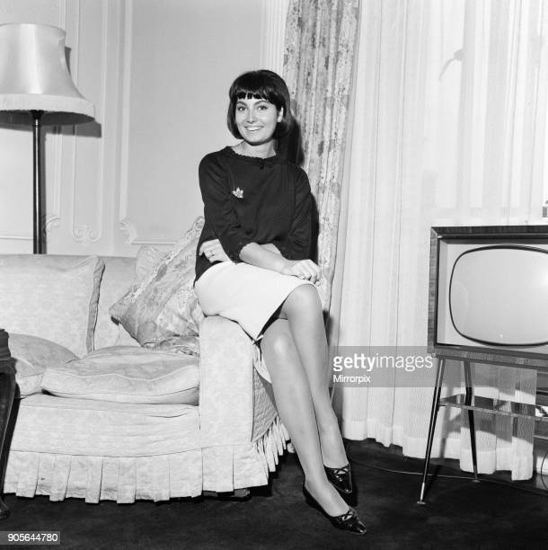 Rosanna Schiaffino, Italian actress, in the UK to star in new film, The Long Ships, pictured in her suite at The Dorchester Hotel, London, Monday 7th...