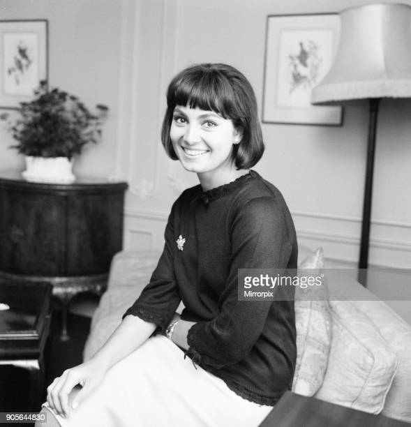 Rosanna Schiaffino Italian actress in the UK to star in new film The Long Ships pictured in her suite at The Dorchester Hotel London Monday 7th...