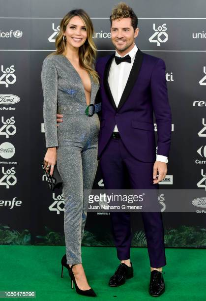 Rosanna Zanetti and David Bisbal attend 'LOS40 Music Awards' 2018 at WiZink Center on November 2 2018 in Madrid Spain