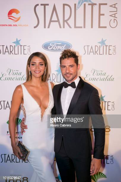 Rosanna Zanetti and David Bisbal attend Starlite Gala on August 11, 2018 in Marbella, Spain.