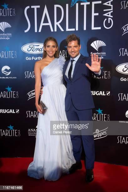 Rosanna Zanetti and David Bisbal attend Starlite Gala on August 11, 2019 in Marbella, Spain.