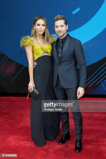 Rosanna Zanetti and David Bisbal attend The 18th Annual Latin Grammy Awards at MGM Grand Garden Arena on November 16 2017 in Las Vegas Nevada