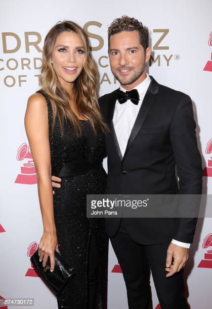 Rosanna Zanetti and David Bisbal attend the 2017 Person of the Year Gala honoring Alejandro Sanz at the Mandalay Bay Convention Center on November 15...