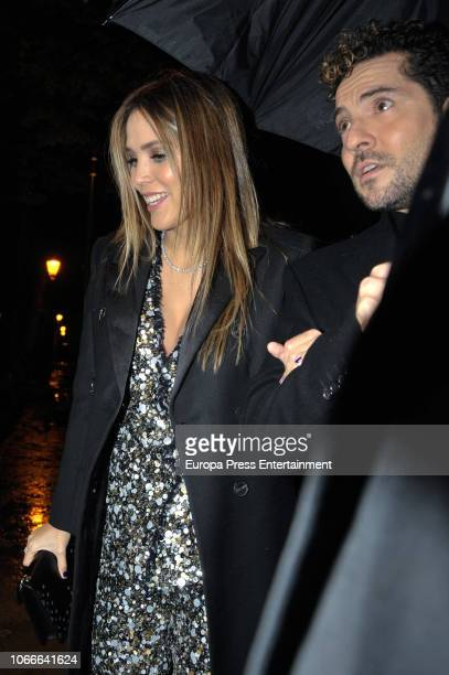Rosanna Zanetti and David Bisbal attend the 'Arde Madrid' party at Florida Park on November 29 2018 in Madrid Spain
