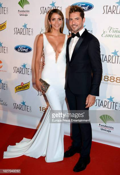 Rosanna Zanetti and David Bisbal attend the Starlite Gala on August 11 2018 in Marbella Spain