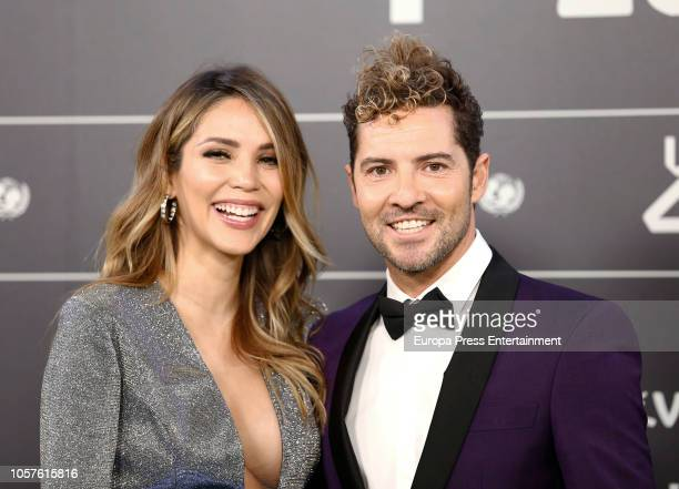 Rosanna Zanetti and David Bisbal attends 'LOS40 Music Awards' 2018 at WiZink Center on November 2 2018 in Madrid Spain