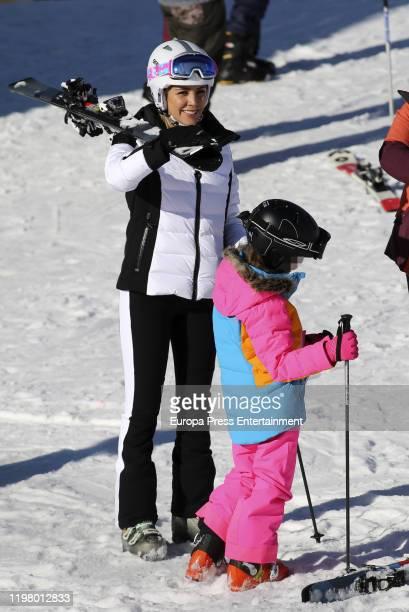 Rosanna Zanetti and Ella Bisbal Tablada are seen on January 04 2020 in Baqueira Beret Spain