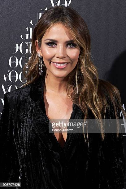 Rosanna Zanetti attends a dinner in honor of Victoria Beckham organized by Vogue at the Santo Mauro Hotel on January 18 2018 in Madrid Spain