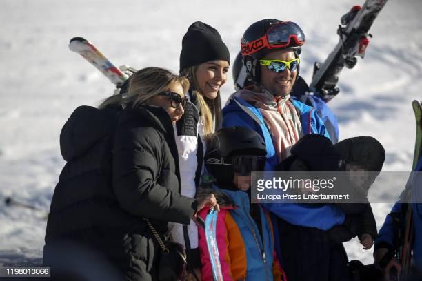 Rosanna Zanetti David Bisbal Ella Bisbal Tablada and Matteo Bisbal Zanetti are seen on January 04 2020 in Baqueira Beret Spain