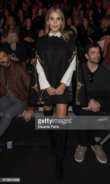 Rosanna Zanetti is seen at the Andres Sarda show during MercedesBenz Fashion Week Madrid Autumn/ Winter 201819 at Ifema on January 26 2018 in Madrid...