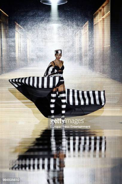 Rosanna Zanetti walks the runway at Andres Sarda show at Mercedes Benz Fashion Week Madrid Spring/ Summer 2019 on July 9 2018 in Madrid Spain on July...