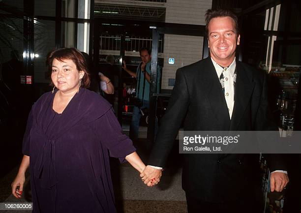 """Rosanne and Tom Arnold during Rosanne and Tom Arnold at a Taping of """"Larry King Live"""" at CNN Studios in Hollywood, California, United States."""