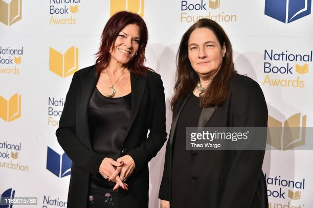 Rosanne Cash and AM Homes attends the 70th National Book Awards Ceremony Benefit Dinner at Cipriani Wall Street on November 20 2019 in New York City