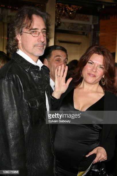 Rosanne Cash and husband John Levinthal during 'Ring of Fire' Broadway opening night arrivals at Ethel Barrymore Theater in New York New York United...