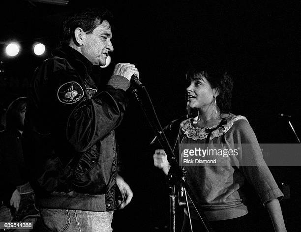 Rosanne Cash and Johnny Cash perform at The MoonShadow Saloon in Atlanta Georgia October 19 1982