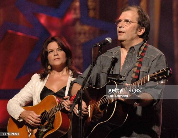 Rosanne Cash and Steve Earle during CMT CROSSROADS - Steve Earle and Rosanne Cash Taping - Airing September 15, 2006 at Manhattan Center @ The Grand...
