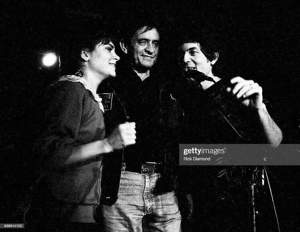 Rosanne Cash, Johnny Cash and Rodney Crowell perform at The MoonShadow Saloon in Atlanta Georgia October 19, 1982