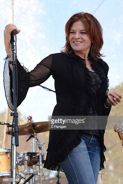 Rosanne Cash performs during the 2014 Hardly Strictly Bluegrass Music Festival at Golden Gate Park on October 5 2014 in San Francisco California