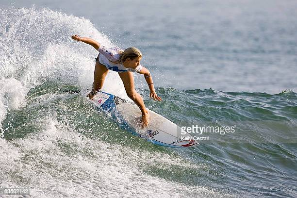 Rosanne Hodge of South Africa competes during the Movistar Classic Mancora Peru as part of the ASP World Tour on November 3 2008 in Macora Peru