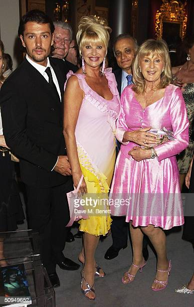 Rosano Rubicondi divorcee Ivana Trump and Liz Brewer attend gala evening in aid of Macmillan Cancer Relief at prestigious annual international fair...
