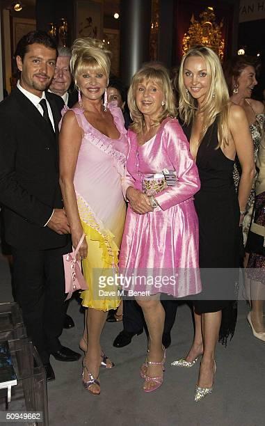 Rosano Rubicondi divorcee Ivana Trump Liz Brewer and Heather Bird attend gala evening in aid of Macmillan Cancer Relief at prestigious annual...