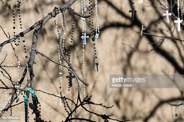 Rosaries Haning outside the  Loretto Chapel, Santa Fe
