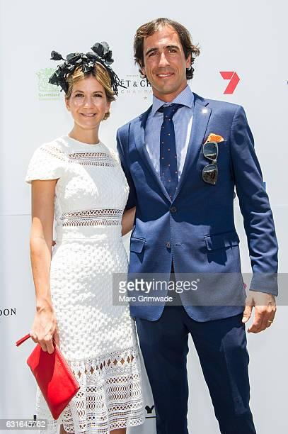 Rosario and Alejandro Astrada attend Magic Millions Raceday on January 14 2017 in Gold Coast Australia
