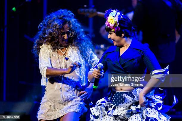 Rosario and Maui perform on stage at Teatro Real on July 28 2017 in Madrid Spain