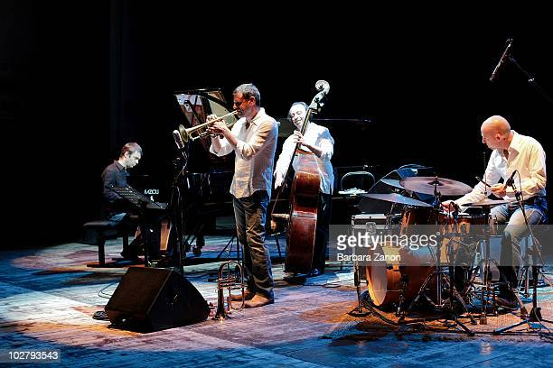 Rosario Bonaccorso quartet perform on stage in Teatro Morlacchi during the second day of Umbria Jazz Festival on July 10 2010 in Perugia Italy