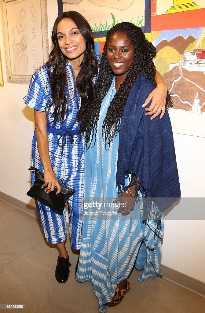 Rosario Dawson and Abrima Erwiah attend Studio 189 Presentation at Spring 2016 New York Fashion Week:The Shows on September 14, 2015 in New York City.