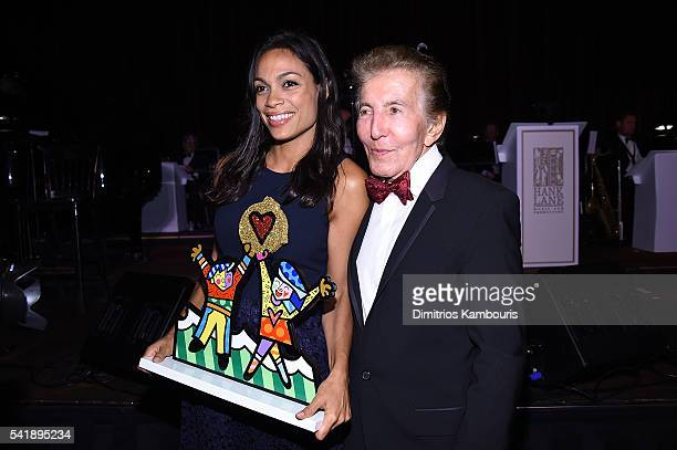 Rosario Dawson and Alex Malnik attend as the Friars Club Honors Tony Bennett With The Entertainment Icon Award Inside at New York Sheraton Hotel...
