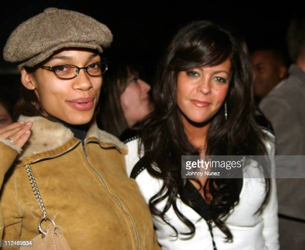 Rosario Dawson and Allison Melnick during 'The Club' World Premiere Party of Spike TV's New Original Series at Marquee in New York City New York...