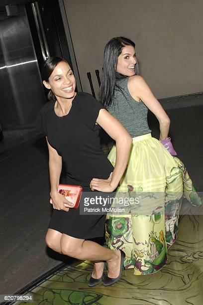 Rosario Dawson and Angie Harmon attend Prada Presents Trembled Blossoms LA at Prada on March 19 2008 in Beverly Hills CA
