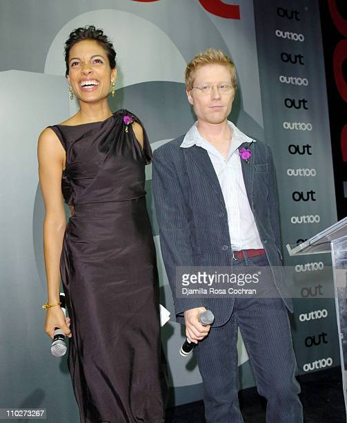 Rosario Dawson and Anthony Rapp during Out Magazine celebrates the 11th Annual 'Out 100 Awards' at Capitale in New York City New York