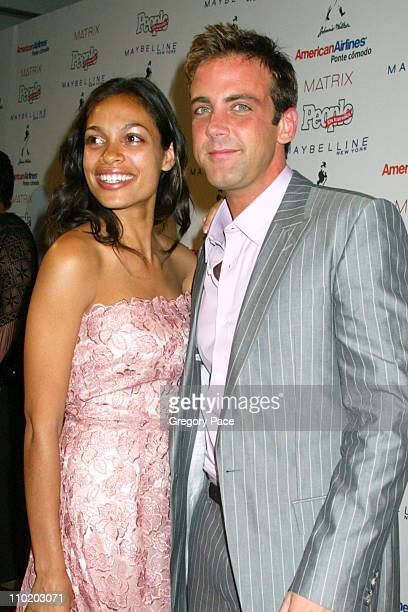 Rosario Dawson and Carlos Ponce during 3rd Annual People En Espanol's '50 Most Beautiful' Gala Arrivals at Splashlight Studios in New York City New...