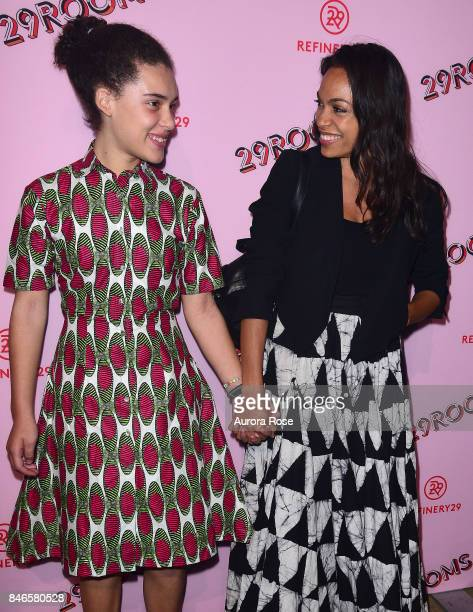 Rosario Dawson and Daughter attend Refinery29's '29Rooms Turn It Into Art' at 106 Wythe Ave on September 7 2017 in New York City
