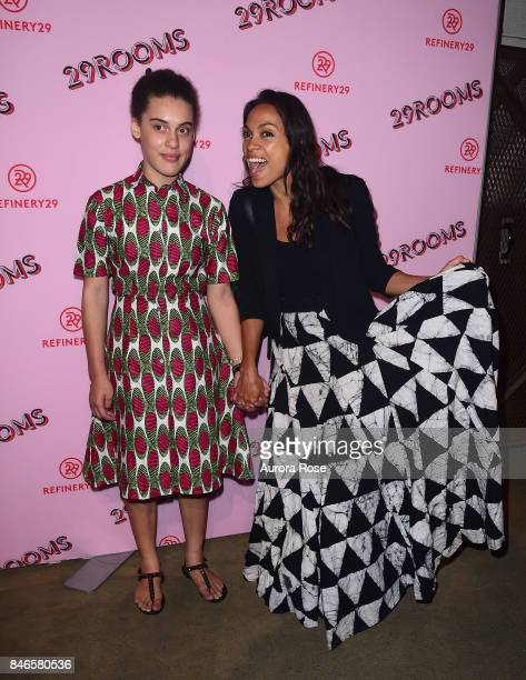 Rosario Dawson and Daughter attend Refinery29's 29Rooms Turn It Into Art at 106 Wythe Ave on September 7 2017 in New York City