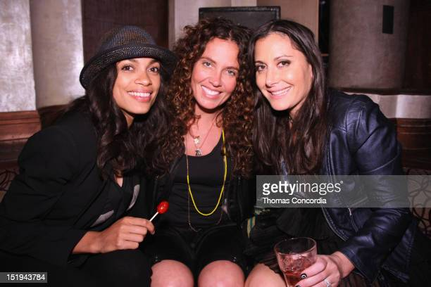 Rosario Dawson and designer Stacy Igel attend the STYLE360 Boy Meets Girl Closing Party at Kiss Fly Night Club on September 12 2012 in New York City