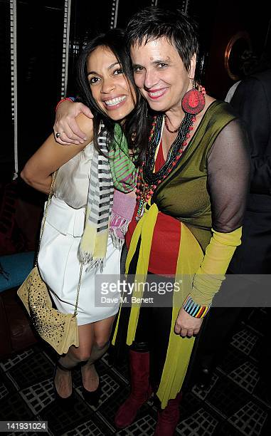 Rosario Dawson and Eve Ensler attend an after party for 'A Memory A Monologue A Rant And A Prayer' a onenight only performance produced by Lauren...