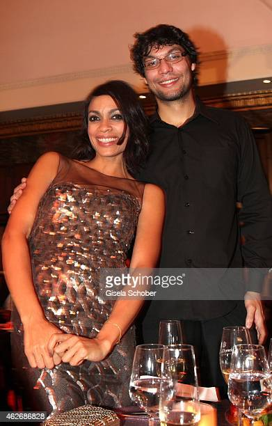 Rosario Dawson and her brother Clay during the Lambertz Monday Night 2015 at Alter Wartesaal on February 2 2015 in Cologne Germany