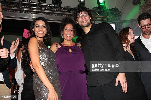 Rosario Dawson and her mother Isabel Celeste and her brother Clay during the Lambertz Monday Night 2015 at Alter Wartesaal on February 2 2015 in...