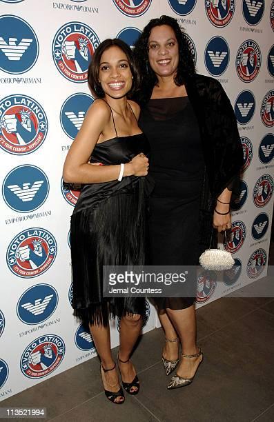 Rosario Dawson and Isabella Dawson during Emporio Armani and Rosario Dawson Celebrate Voto Latino at Emporio Armani Boutique in New York City New...